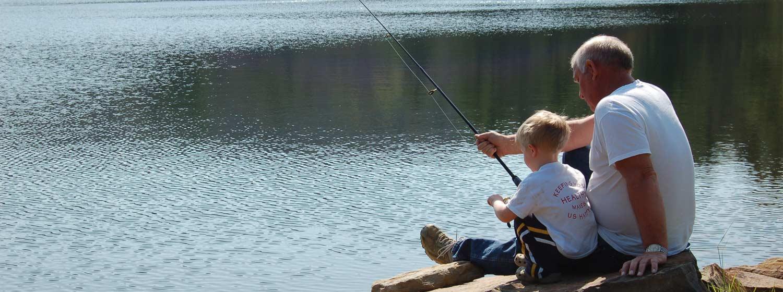fishing at Moncove Lake